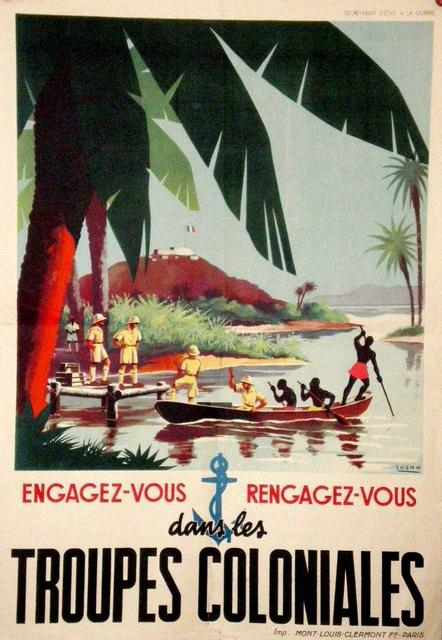 A post-World War II poster during the era when France tried to restore its military honor through its colonies.