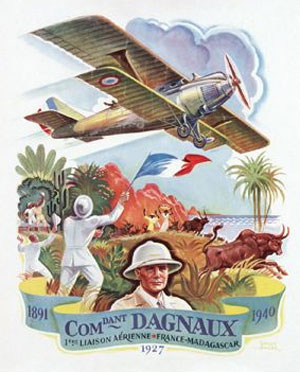 "An interwar ""travel"" poster shows an idealistic view of the French colonies."