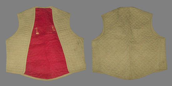 A variation of the spine pad is shown here as a quilted vest. (Photo courtesy of James Holt)
