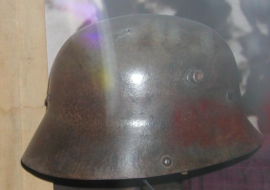 Turkish Steel Helmet in the Imperial War Museum - with visor
