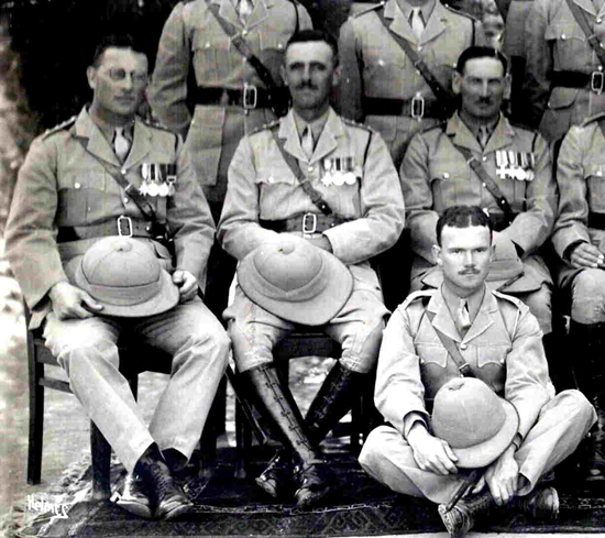 A group photograph of officers of the 1st Battalion, The King's Shropshire Light Infantry, at Peshawar, India circa 1931. (Courtesy of the Shropshire Regimental Museum, Shrewsbury Castle)