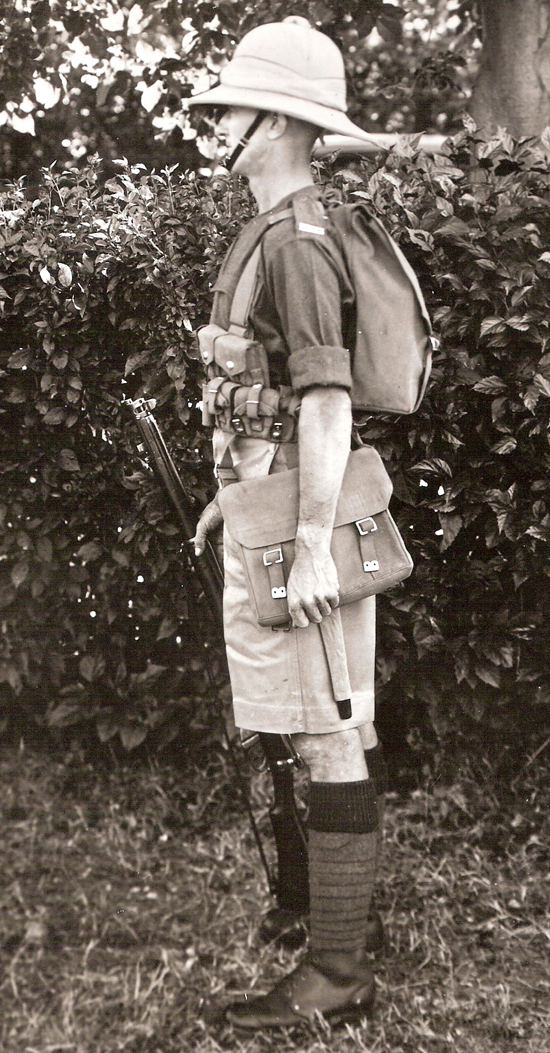A private of The King's Shropshire Light Infantry in India, early 1930s. (Courtesy of the Shropshire Regimental Museum, Shrewsbury Castle)
