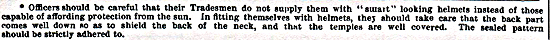 An extract from the 1900 Dress Regulations for the officers of the Army.