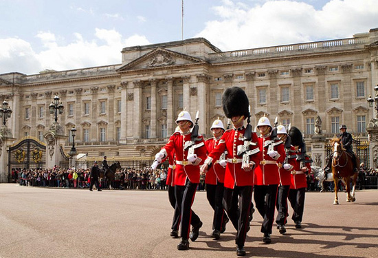 The Royal Gibraltar Regiment took over from the Coldstream Guards at the famous Changing of the Guard ceremony at Buckingham Palace this past April - the second time only that the regiment has performed such duties