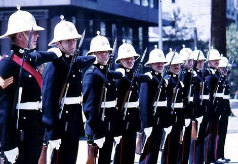 Royal Marines on parade