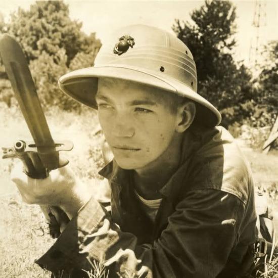 David Rickenbacker during USMC training c.1943