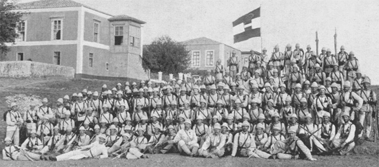 Austrian forces on Crete in 1897 clearly wearing white sun helmets