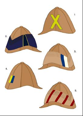 1. The Royal Scots Greys. (later version) 2. The Royal Horse Guards. 3. The 19th (Prince of Wales Own) Hussars. 4. The 18th Hussars. 5. The Royal Scots Greys (early version)