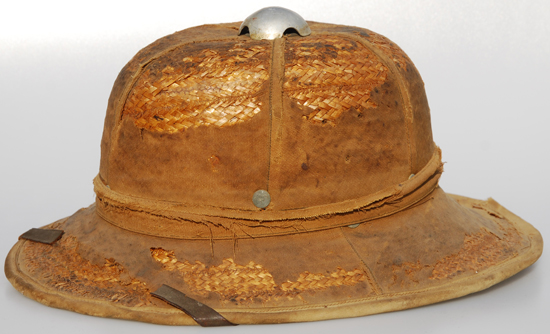 A German World War II sun helmet.