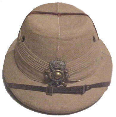 "An Italian ""Indian"" pattern helmet – a British ""Bombay Bowler"" that was either captured or was a private purchase (Private collection)"