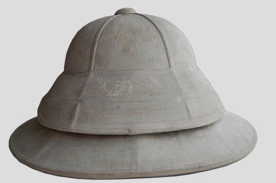 "An extremely rare, in fact possibly the only known survivor, of Thomas Townend's double-helmet commercially named the ""Rodel."" (Author's collection)"
