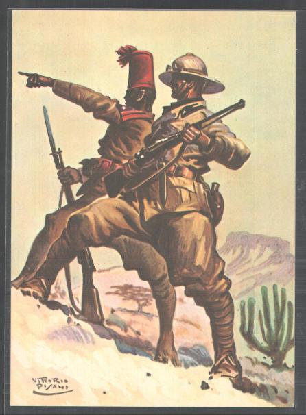 An image of the Italian Askari with Italian Soldier in World War II