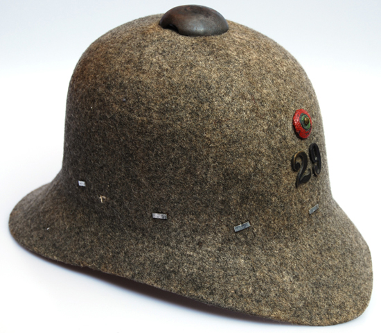 531ef7ab055be A 1913 pattern Portuguese pressed felt helmet. While intended for use in  Europe