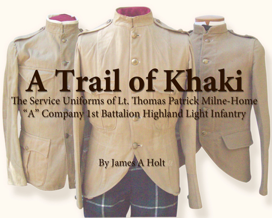 Service Uniforms of Lt Thomas Patrick Milne-Home