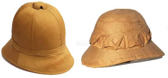 """023a3c2403393 While the term """"pith helmet"""" is commonly used to describe any sun or summer  helmet"""