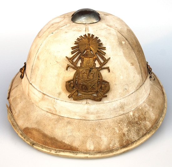 A Thai sun helmet based on the French M31 pattern