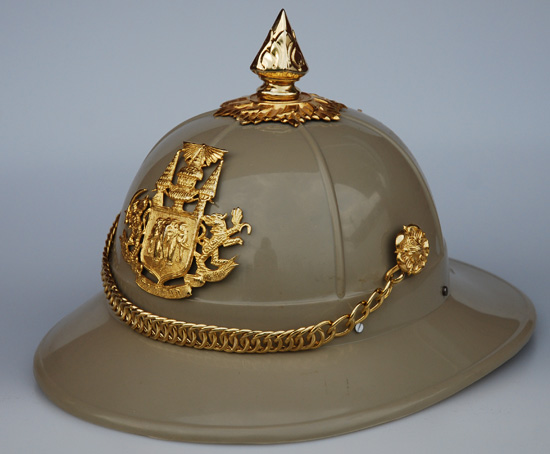 The winter pattern plastic Thai sun helmet for an officer