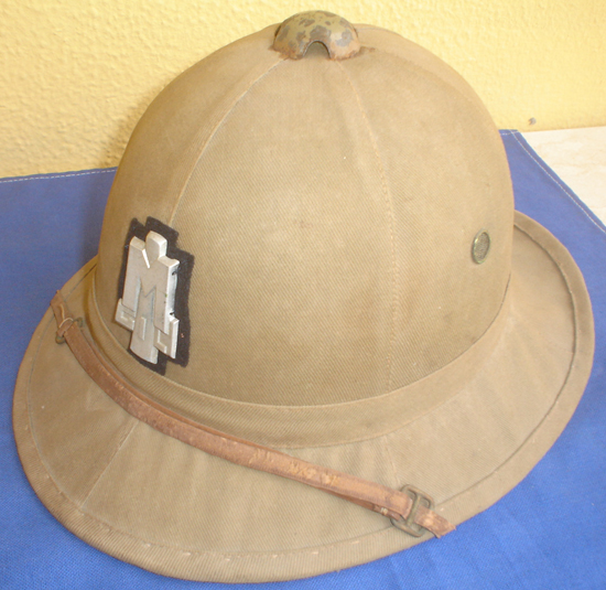 A child's version of the Model 1928 helmet for the Italian Youth del Littorio (GIL), which was active from 1935-1942. It may have been used at DUX camps in Africa.