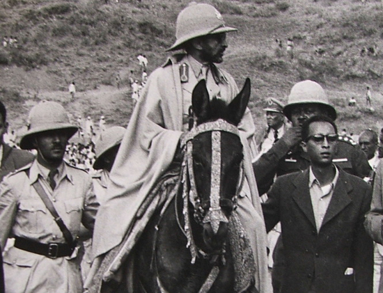 The Emperor on horseback in the late 1960s