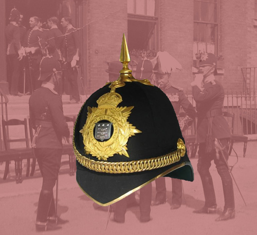 An example of an officer's version of the Home Service Helmet. This one is provenanced to W. Swan of the Army Ordnance Department. (Author's collection)