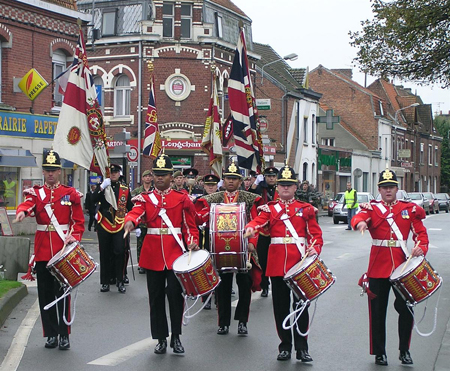 The drums of the Duke of Wellington's (West Riding) regiment in France 2005.