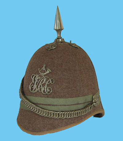 Another variation to the helmet plate, this helmet being to the Eton Rifle Volunteers. (Author's collection)