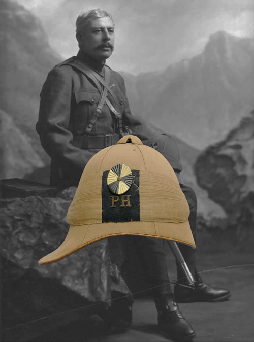 An example of the Foreign Service Helmet illustrating the similarity of style with the Home Service Helmet. (Author's collection)
