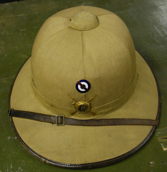 A French-made M31 pattern helmet with the Uruguayan cockade and infantry badge.