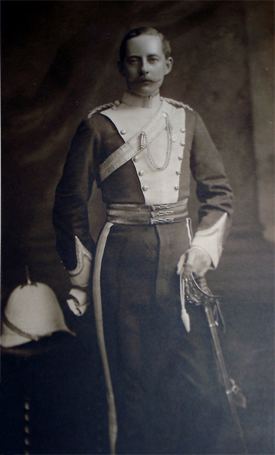 Sir Charles in the uniform of the Glamorgan Imperial Yeomanry