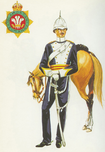 A 1969 era color plate of the Glamorgan Imperial Yeomanry uniform showing a figure that does look remarkably like that of Major C. Venables-Llewelyn