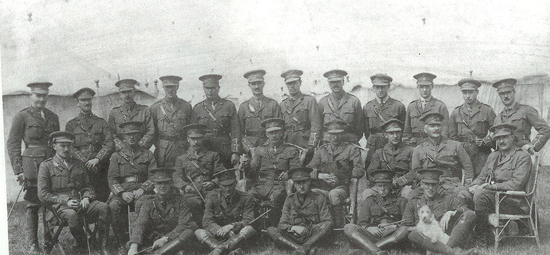 A 1916 dated photo shows officers of the 2/1st Glamorgan Yeomanry. Lt. Col. C Veneables-Llewelyn is seated in the center