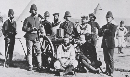 0cd7e8520ef59 Members of the Naval Brigade in South Africa 1879. Note the blue covers to  the