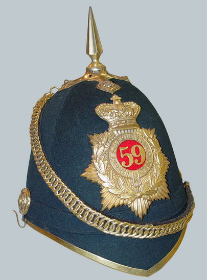 "The Canadian ""Blue Cloth"" helmet featuring the Queen's Crown"