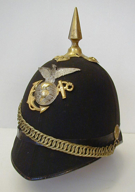 An 1892 pattern officer dress helmet for the United States Marine Corp (Collection of Mark Kasal)