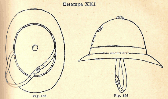 Fig 2: Dress regulations for the 1911 helmet.