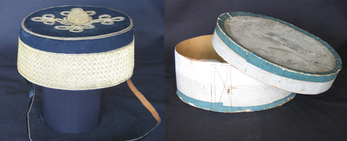 A cardboard hat box for a cavalry pillbox cap. Attributed to Sergeant Morris of the 13th Hussars. (Author's collection)