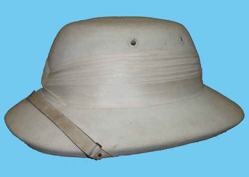 Henry Frampton's pith helmet which was worn on non-ceremonial occasions. (Photo courtesy of Christopher Mills)