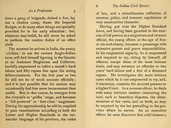 Pages from Indian Civil Service p5-6