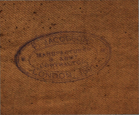 The ink maker's stamp of Frederick Jacobson with the year 1891. (Photo courtesy of Roland Gruschka)