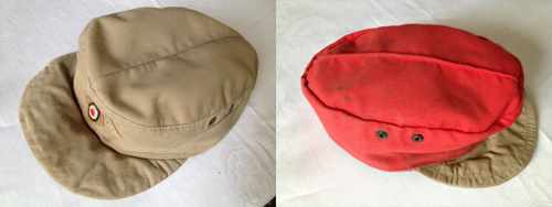Here is an example of an Afrika Korps cap. (Author's collection)