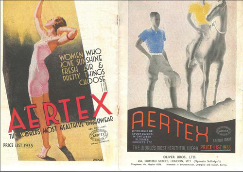 The Aertex price list for 1935.