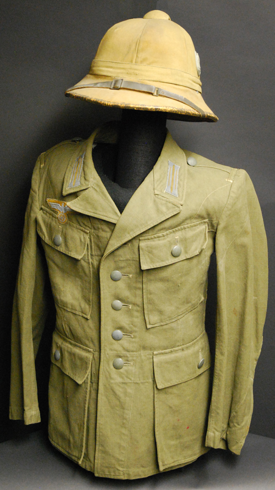 The infamous Afrika Korp used a variety of tan colors that were essentially based on khaki. This M41 pattern was among the first pattern jackets used in North Africa and Southern Europe (author's collection)