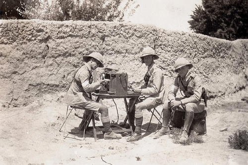 A Royal Corps of Signals (RCS) radio party in Quetta, India 1932. (Photo Peter Suciu)
