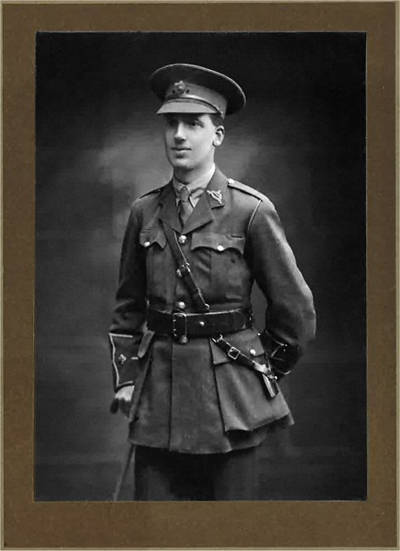 W.D. Wroe as a 2nd Lieutenant. (Photo courtesy of Toby Riley-Smith)