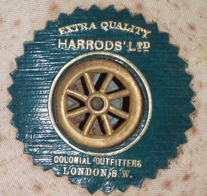 Wolseley outfitter's label