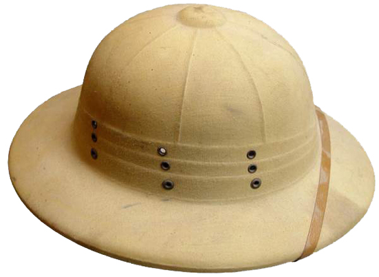 9579bec24d59e It shows that the helmet featured a faux three-fold puggaree, which was the  number of folds in the British-produced Wolseley helmet of ...