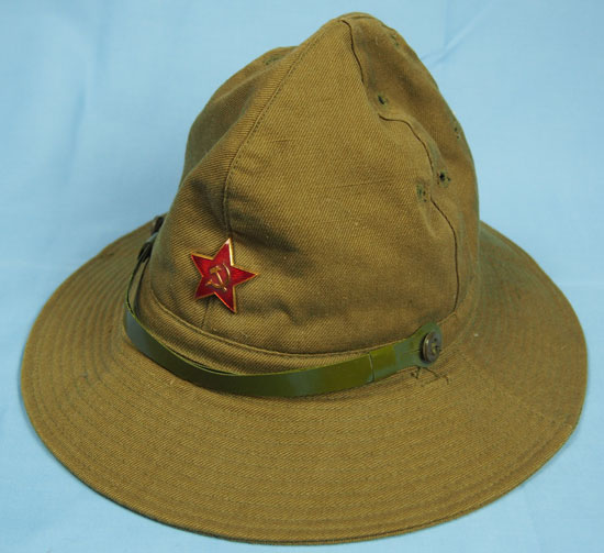 290cdd6c420 An early 1980s Soviet Afghanka cap of the type used during the summer  months in the Soviet Union and by Soviet forces in Afghanistan (Collection  of the ...
