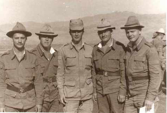 A group of Soviet soldiers wearing the summer uniforms including the  Afghanka 5371d7f34fb5