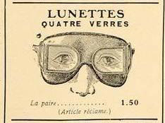 Figure 2. 1906 advertisement for 'four lens glasses', from the French magazine 'L'Illustration'