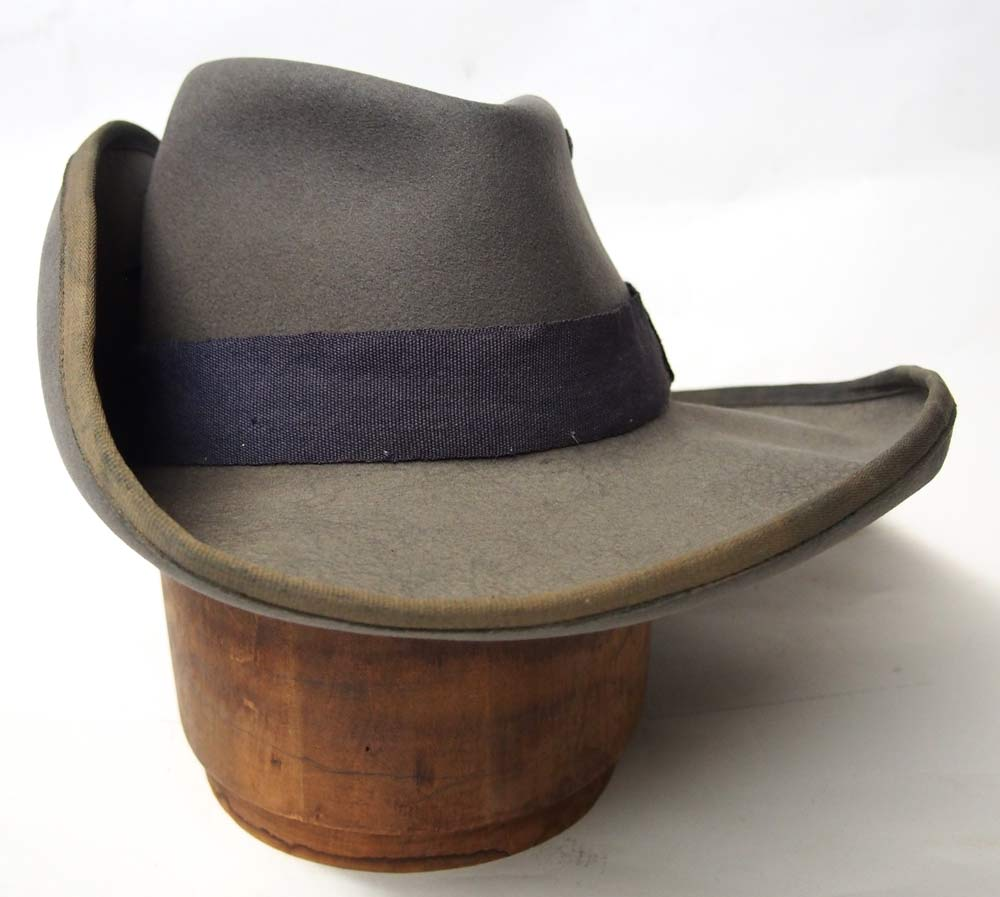 0967065734c The front view of the hat shows the blue gray band for German South West  Africa (Collection of the author)